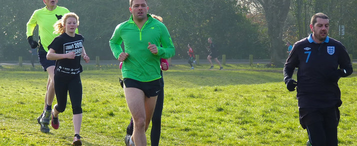 parkrunners at Havenstoke Park