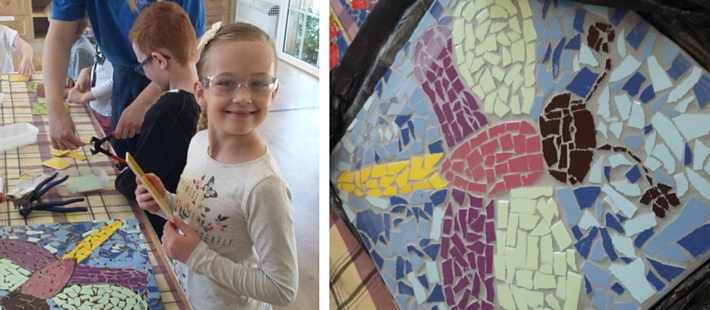 Mosaic workshop Youth Club