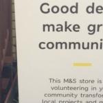 M&S volunteers help out