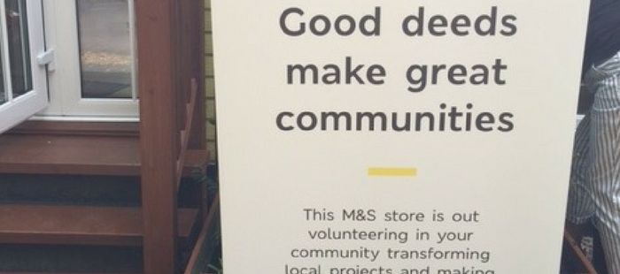 M&S volunteers help out