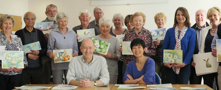 WATERCOLOUR CLASSES WITH JOHN HILL AND SAKURA MISUMI