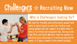 The Challengers charity: recruitment event @ the Lodge