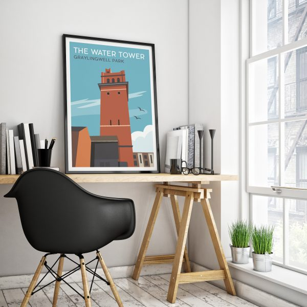 the Water Tower Graylingwell Poster